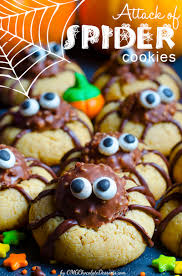 halloween spider sugar cookies using ferrero rocher chocolates