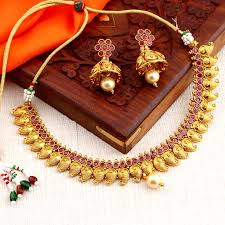 necklace sets images Buy necklace sets online temple jewellery gold plated neckace jpg