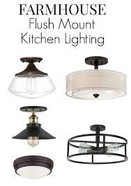 Flush Mount Ceiling Lights For Kitchen Kitchen Lighting Rubbed Bronze Semi Flush Mount Semi Flush