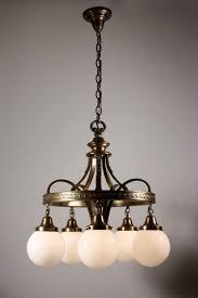 Globes For Chandelier Splendid Antique Bronze Neoclassical Five Light Chandelier With