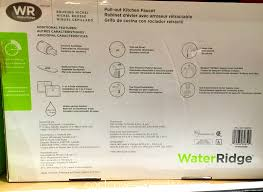 water ridge pull out kitchen faucet bathroom foxy waterridge pull out kitchen faucet costco