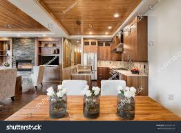 Kitchen And Living Room Open Floor Plans by Beautiful Home Interior Open Floor Plan Stock Photo 295500149