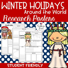 and winter holidays around the world research project