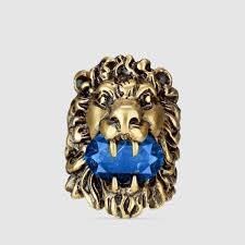 Head Cushion Socks Lion Head Ring With Crystal Gucci Fashion Rings 402763j1d704068