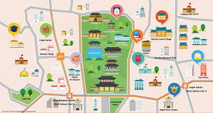 Korea On Map Korea Map Kto Tourism Organization Bukchon Gwanghwamun