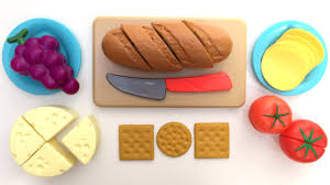Plastic Toy Kitchen Set Just Like Home Bread And Cheese Set Toy Cutting Food Velcro