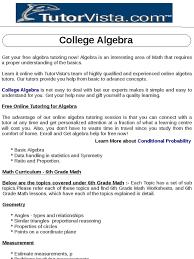 college algebra docshare tips