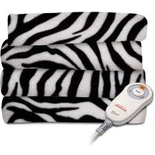 Cheetah Print Blanket Sunbeam Heated Fleece Electric Throw Walmart Com