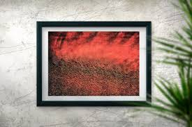 large red abstract gift rustic decor minimalist wall art prints