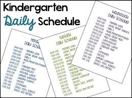 best 25 kindergarten daily schedules ideas on pinterest daily
