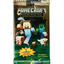minecraft cards minecraft collectible sticker cards single pack eb