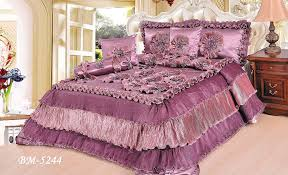 Mauve Comforter Sets Amazon Com Tache 6 Pieces Floral Solid Mauve Purple Passion