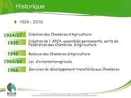 chambre d agriculture historique 1924 27 création des chambres d agriculture ppt