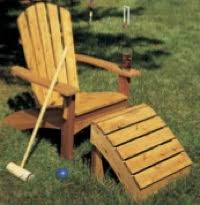 adirondack ottoman woodworking plans and information at