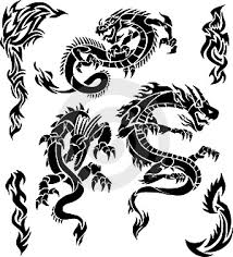 black tribal dragon tattoos tattoos designs pictures