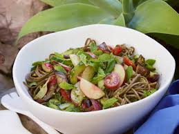 soba noodle salad with pesto and grilled eggplant recipe bill