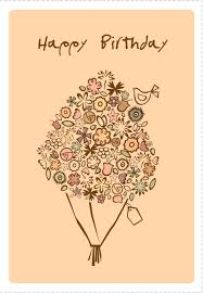 free printable happy birthday bouquet greeting card e cards
