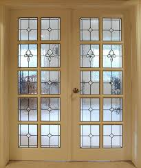 Interior Doors With Glass Panel Custom Stained Glass For Your Doors