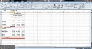 Income Projection Statement Template by Excel Tutorial How To Make An Income Statement Youtube