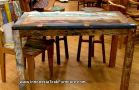 Old Wooden Table And Chairs 27 Old Boat Wood Furniture Export