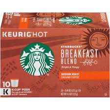 Blend K Cups Starbucks Breakfast Blend Medium Roast K Cup Pods Ground Coffee