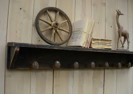 Reclaimed Wood Home Decor Railroad Spike Shelf Wood Reclaimed Wood Shelving