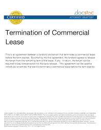 Notice Of Lease Termination Letter From Tenant To Landlord by Tenancy Termination Letter Template Sample Of Landlord Lease