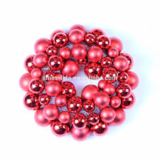 hottest selling plastic christmas ball wreaths 24