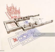 louvre floor plan paris city plan by sebastian munster 1530 stock illustration