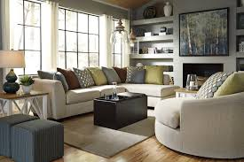 buy casheral linen sectional living room set by benchcraft from