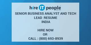 sle resume for business analyst role in sdlc phases system senior business analyst and tech lead resume india hire it