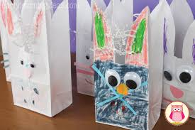 easter bags easter crafts for preschoolers bunny bags early learning ideas