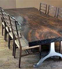 Oak Slab Table by Live Edge Wood Slab Tables American Furniture