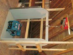 garage attic lift trick home pinterest attic lift garage