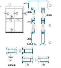 astonishing sliding door plan drawing gallery best inspiration