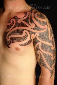 chest and shoulder tattoo shane tattoos maori chest and shoulder tattoo