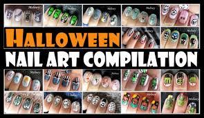 halloween nail art compilation meliney designs youtube