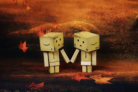 wallpaper danbo couple free images night cute love evening red autumn romance