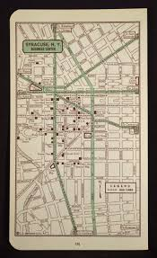 Syracuse Map Syracuse Map Syracuse Street Map Vintage New York Wall Art Map