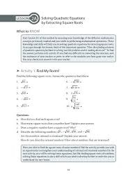 solving quadratic equations with square roots worksheet answers together with graphing