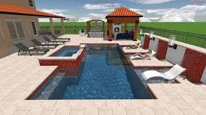 Backyard Pool Designs by 3d Swimming Pool Design Sanford Clermont Orlando Pool Studio