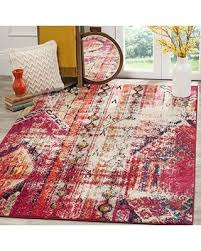 Magenta Area Rug Big Deal On Safavieh Monaco Collection Mnc222d Modern Bohemian