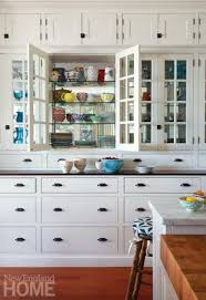 glass cabinets in white kitchen galleries new home magazine