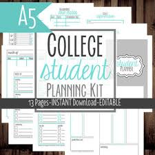 printable student homework planner a5 filofax student planner college from mamasgotittogether on