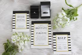 black tie wedding invitations our modern chic minted wedding invitations bisous