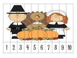 4 thanksgiving number order puzzles freebie by klever kiddos tpt