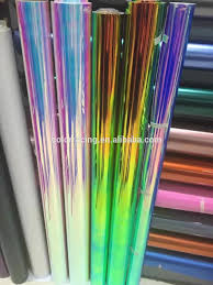 holographic car holographic car vinyl wrap holographic rainbow film foil for car