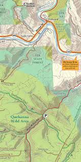 Continental Divide Map Moshannon U0026 Quehanna Lizard Map Hiking Biking Trails And More
