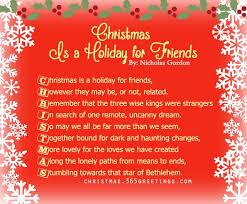 short christmas poems for friends u2013 christmas celebrations