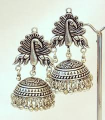 buy jhumka earrings online buy tribal german silver jhumka earring online